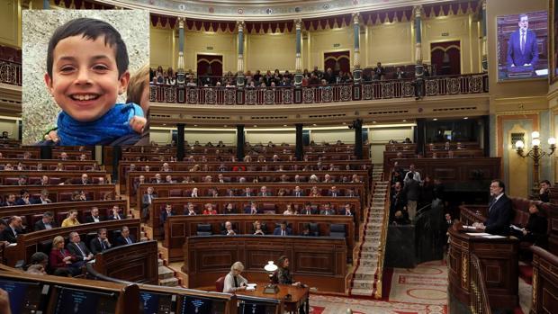 El pleno del Congreso de los Diputados ha comenzado con palabras de cariño hacia Gabriel Cruz y su familia