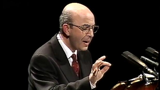 Miguel Ángel de Abajo, en su pregón de la Semana Santa de 1998,
