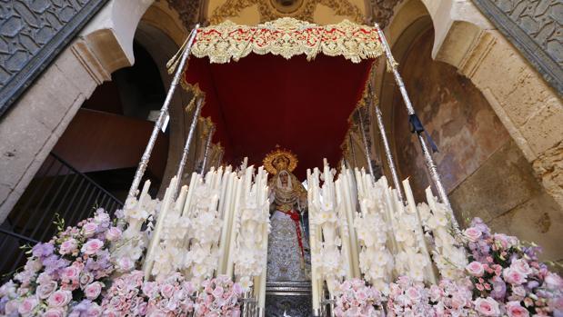 La Virgen de la Salud el pasado Martes Santo
