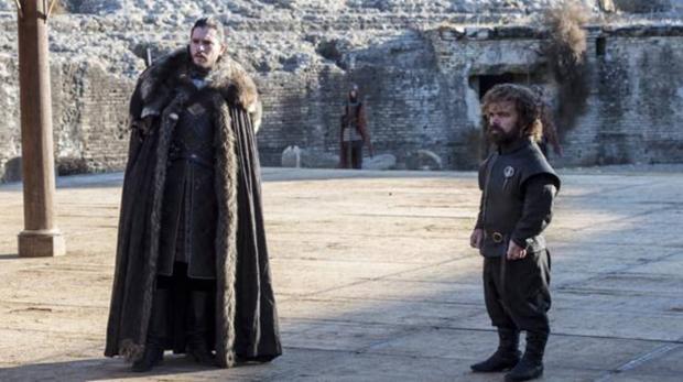 Jon Nieve y Tirion Lannister, en Itálica (Sevilla)