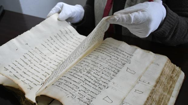 Imagen del libro donde de describen propiedades y oficios de los habitantes