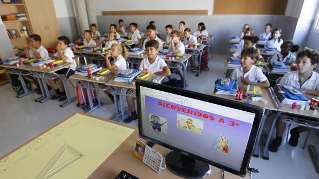 Un aula del colegio de la Trinidad en Córdoba
