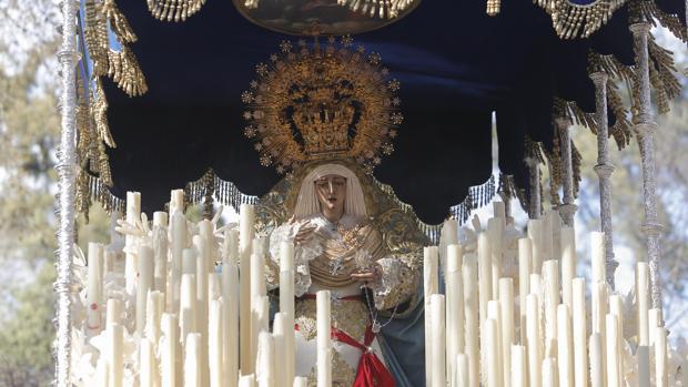 Nuestra Señora de la Estrella el pasado Lunes Santo