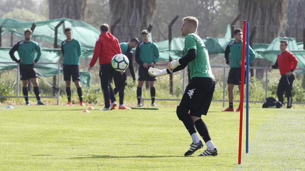 Kieszek, en un entrenamiento
