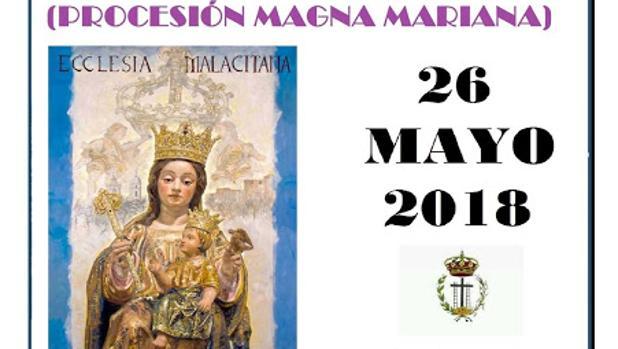 Cartel de la excursión a la Magna Mariana de Málaga