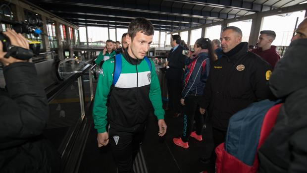 Sasa Jovanovic a su llegada de Tarragona tras jugar contra el Nástic