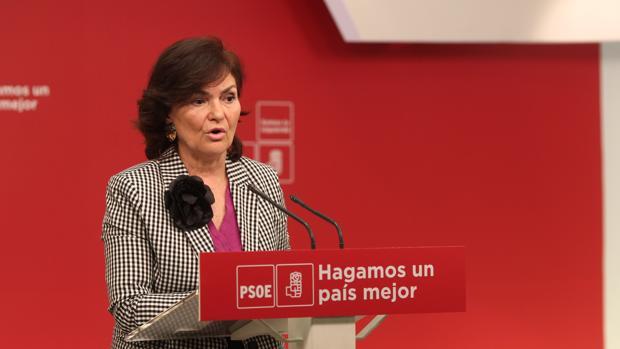 Carmen Calvo, secretaria de igualdad de la ejecutiva federal socialista se refirió al «ciudadano Chaves»