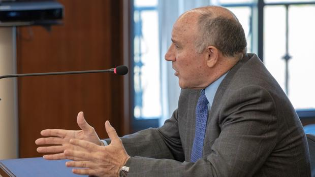 José Antonio Ávila, exjefe de los servicios jurídicos del IFA, durante su declaración este lunes en el juicio del caso ERE