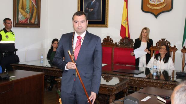 El alcalde de Priego, José Manuel Mármol, el día que fue elegido regidor de este municipio