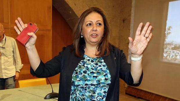 La exdirectora del Patronato de la Alhambra, Mar Villafranca, una de las detenidas