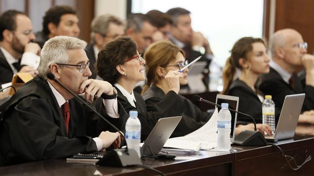 Letrados de las defensas, el miércoles en el juicio del caso ERE
