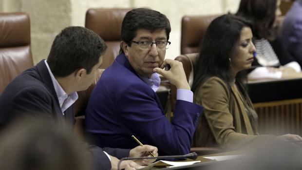 Juan Marín en el debate parlamentario