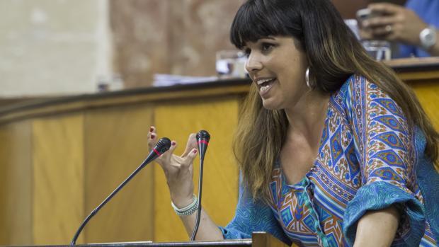 La lideresa de Podemos en Andalucía Teresa Rodríguez