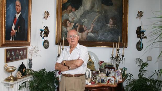 Rafael Maldonado en una imagen de archivo de ABC en el interior de su casa de Aguilar de la Frontera