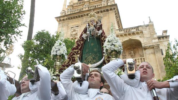 La Virgen de Araceli de Córdoba durante su última procesión