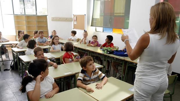 Niños de Primaria en un colegio de Córdoba