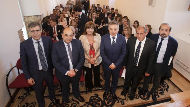 Abogados y jueces ayer en la Biblioteca Viva de Al-andalus en Córdoba
