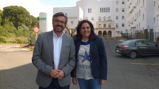 Torrico y Redondo, este viernes en el hospital de Los Morales