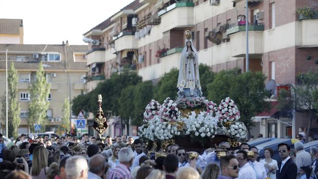 Virgen de Fátima, en su barrio