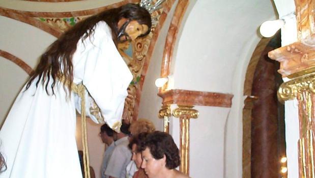 Nuestro Padre Jesús del Calvario, en su camarín