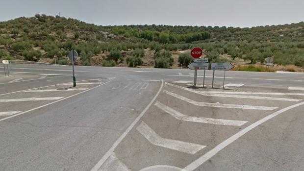 Imagen de la carretera en la que se ha producido en accidente