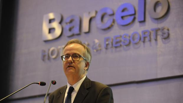 Simón Pedro Barceló durante la ponencia