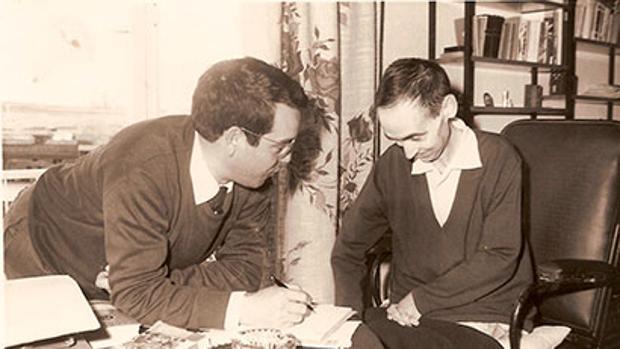 Manuel Lozano Garrido, Lolo, junto a su medico y amigo Juan Pérez
