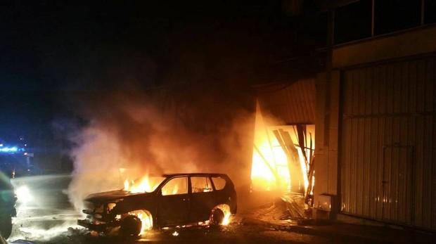 El gimnasio quemado del narco fallecido