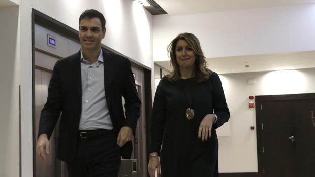 Pedro Sánchez y Susana Díaz, en un reciente foro