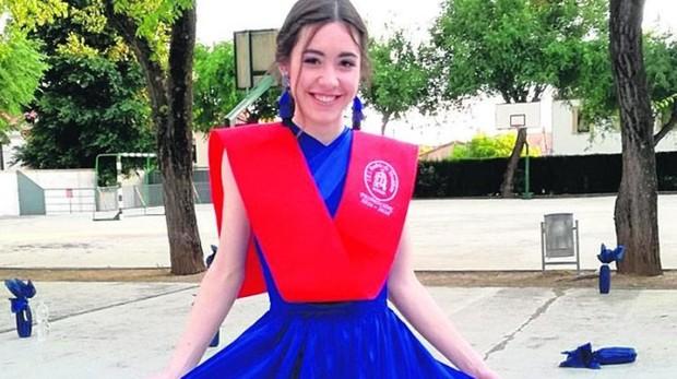 Teresa García Salcedo el día de su graduación