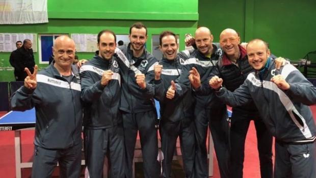 Equipo del Cajasur Priego durante el campeonato liguero