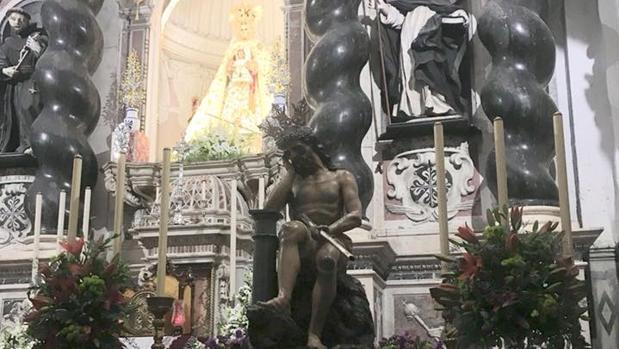 El Santísimo Cristo de la Humildad y Paciencia de San Roque, en el santuario de la Patrona
