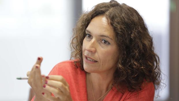 La consejera Lina Gálvez en un momento de la entrevista