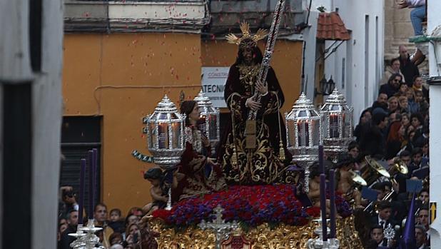 El Nazareno, a su bajada por Jabonería este pasado Jueves Santo