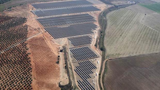 Planta solar instalada en el municipio cordobés de El Carpio