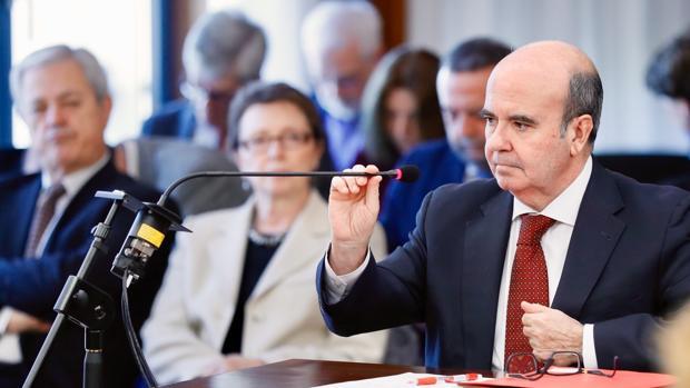 El exconsejero Gaspar Zarrías durante su intervención en el juicio del caso ERE