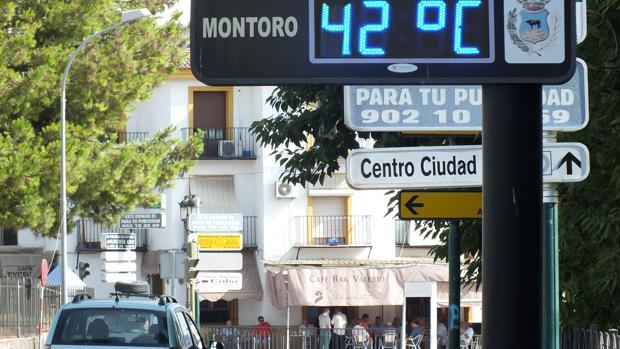 Imagen del centro de la localidad de Montoro captada en agosto de 2016