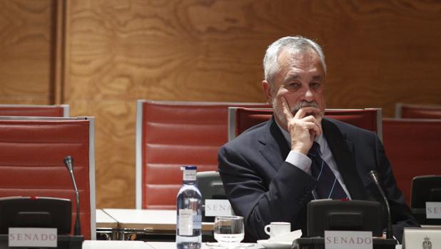 José Antonio Griñán, este jueves en su comparecencia en el Senado