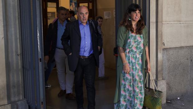 Teresa Rodríguez, el día que ratificó la denuncia contra el empresario Manuel Muñoz