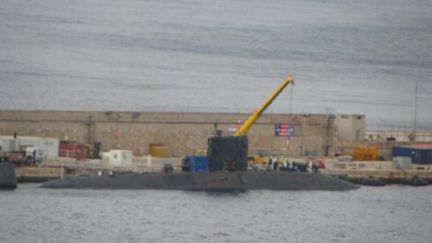 Imagen del «HMS Talent» en la base naval de Gibraltar el pasado mes de septiembre.