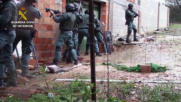 Imagen de la Operación Albarracín realizada estos días por la Guardia Civil