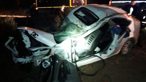 Estado en el que quedó el vehículo siniestrado en Badolatosa en noviembre de 2018 y cuyo conductor perdió la vida