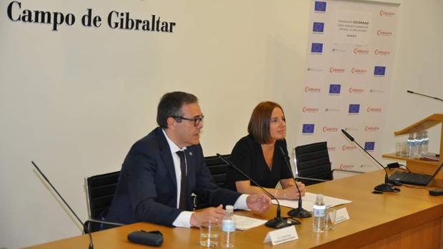 Carlos Fenoy durante un acto de la Cámara de Comercio del Campo de Gibraltar