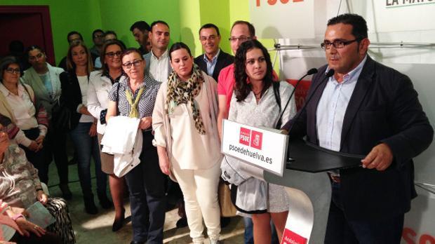 El akcakde de La Redondela, en un acto del PSOE