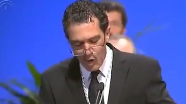Antonio Banderas, durante el acto institucionald el 28F de 2013