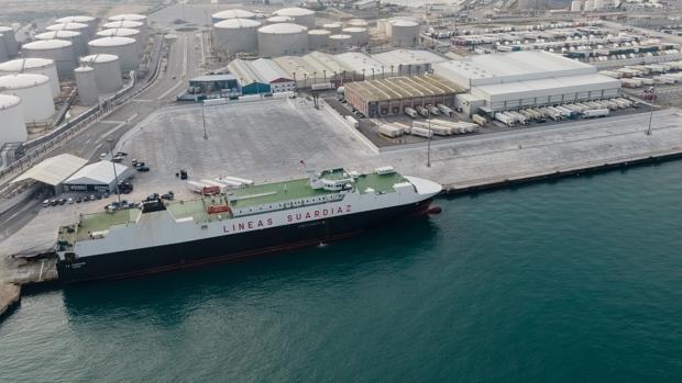 Imagen de la terminal ampliada de tráfico rodado del puerto de Algeciras