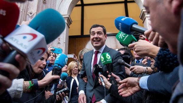 El ya presidente de la Junta de Andalucía, Juanma Moreno