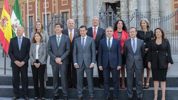 El Gobierno de Juanma Moreno al completo, tras su toma de posesión