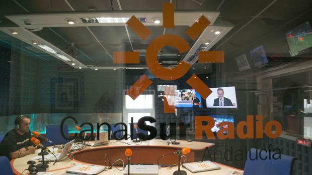 Uno de los estudios de Canal Sur Radio en la isla de la Cartuja de Sevilla