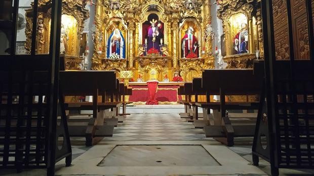 El cenizario estará bajo el suelo de la capilla del Nazareno